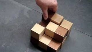 SOMA CUBE puzzle solution ( game brainteaser | cube wood | skill create | soma cube ) brainteaser ��� �������