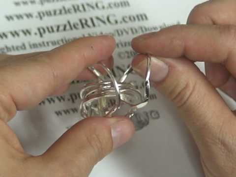 Puzzle Ring Solution for 7 Band Puzzle Rings 72SM кольцо-головоломка из семи частей