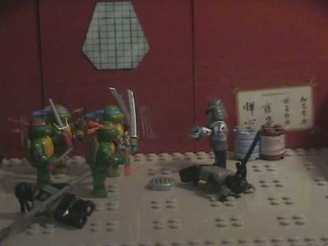 The lego Cameraman meets the Teenage Mutant Ninja Turtles
